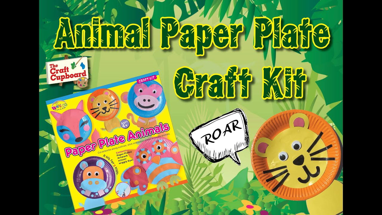 Get Creative - Animal Paper Plates Craft Kit  sc 1 st  YouTube & Get Creative - Animal Paper Plates Craft Kit - YouTube