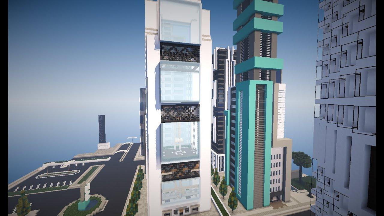 Minecraft ense ando casas modernas edificio 3 youtube for Minecraft moderno