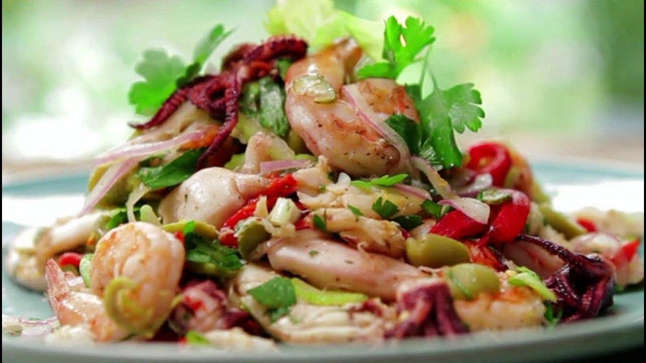 простые салаты с кальмарами