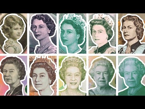 The Queen's Life Told Through Banknotes & Coins