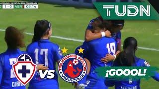 ¡Goool de Paola González | Cruz Azul 1 - 0 Veracruz | Liga Mx femenil - AP 19 - J 14 | TUDN