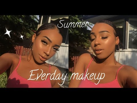 MY EVERYDAY SUMMER GLOWY MAKEUP ROUTINE! - Ft. Beauty Forever Hair