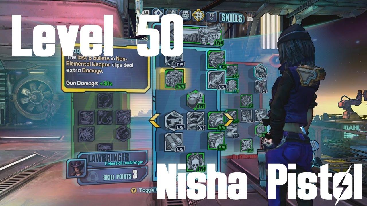 Level 50 Nisha Pistol Build | Borderlands: The Pre-Sequel