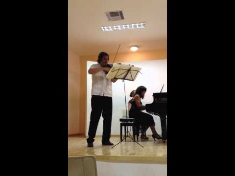 Franck sonata in A major for violin and piano mvt1 (played by Kurt Nikkanen & Maria Asteriadou)