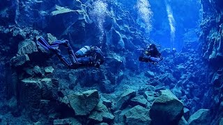 Diving between two continents, Iceland