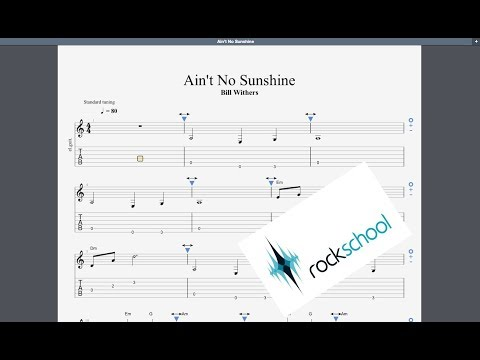 Ain't No Sunshine Rockschool Debut Grade Guitar