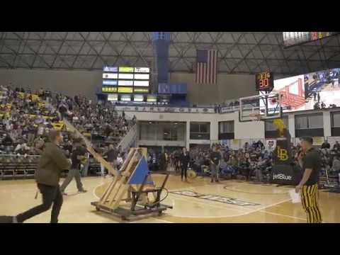 CSULB Engineering Night Basketball Catapult Half-Time Show