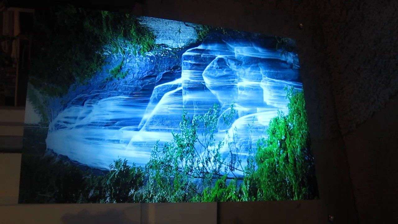 Lighted Moving Waterfall Picture With Mirror Frame Youtube
