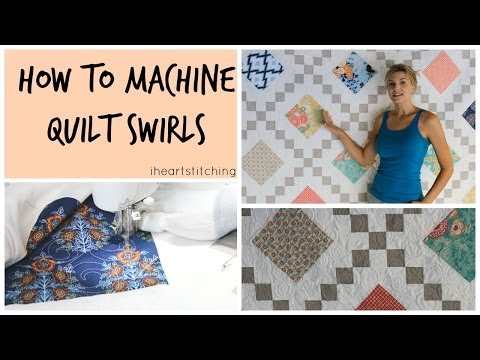 How to Free Motion Quilt Swirls