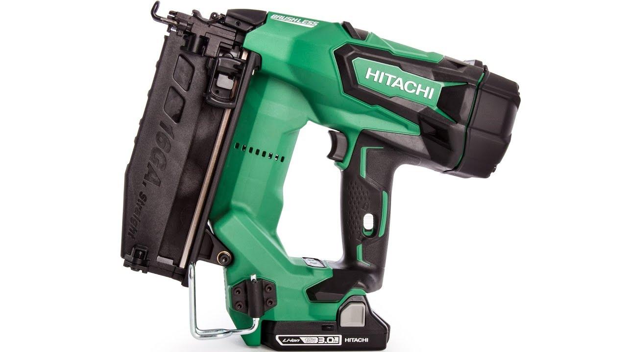 Hitachi NT1865DM Hitachi NT1865DM 18V Brushless 16 Gauge Finish Nailer Renewed