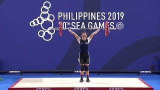 Mary Flor Diaz Nabbed The Bronze Medal In The Women's 45kg Weightlifting | 2019 Sea Games