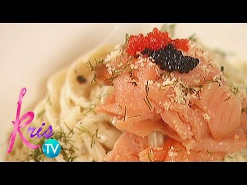 Kris TV: Cream Pasta With Smoked Salmon By Janice