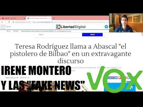 IRENE MONTERO Y LAS FAKE NEWS DE VOX, RODRÍGUEZ Y