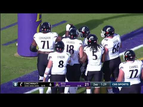 Football Highlights: Cincinnati 20, ECU 48 (Courtesy CBS Sports Network)