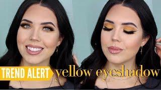SPRING MAKEUP TREND: YELLOW EYESHADOW – Full Face Makeup Tutorial w/ Yellow Eye Shadow   Faith Drew