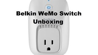 Belkin WeMo Switch Unboxing