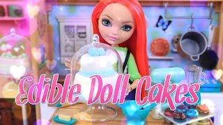 DIY - How to Make: Edible Doll Cakes - Doll Food Crafts - Marshmallow Fondant - Edible Playdough  4K