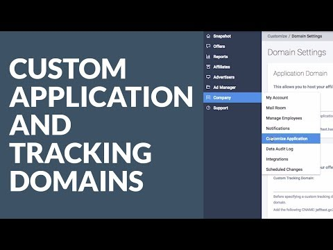 HasOffers: Custom Application and Tracking Domains