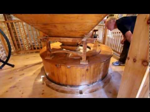 Grinding Grain into Flour at the Old Stone Mill