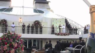 Seabourn Sojourn Inaugural In London, Twiggy Names Ship At Ceremony