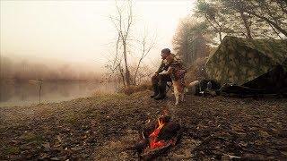 Рыбалка с Ночёвкой в Ноябре На Налима с Жориком. Поймал Усатого Дядю!