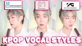 Comparing SM \/ YG \/  JYP Entertainment KPOP AUDITION VOCAL SINGING STYLE