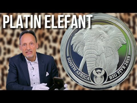 1 Unze Platin - Big Five Elefant 2019 - Nur 500 Stück