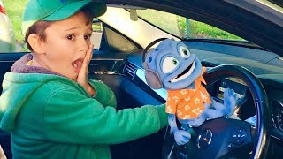Crazy Frog Dj Driving Parents car to the playground.