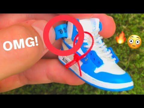 a55e4380c1cd5c CRAZY DETAILS! - 3D Sneaker Keychains  Off-White Air Jordan 1 UNC ...