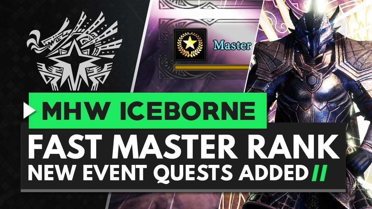 Monster Hunter World Iceborne | Boost You Master Rank - New Event Quests thumbnail