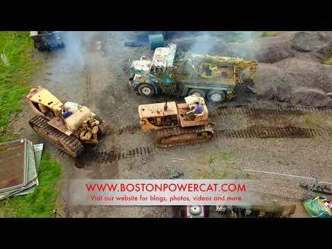 Caterpillar D8 Bulldozer Tow Starting Cat D8 Dozer Filmed with DJI Mavic Pro 4K Drone
