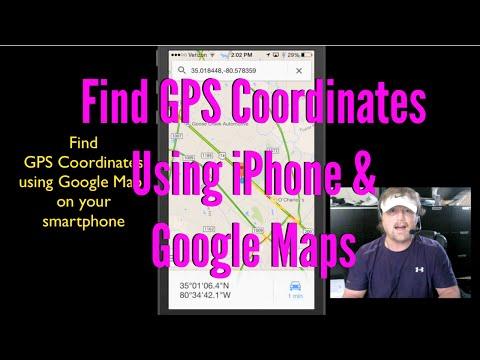 Find GPS Coordinates Using iPhone & Google Maps