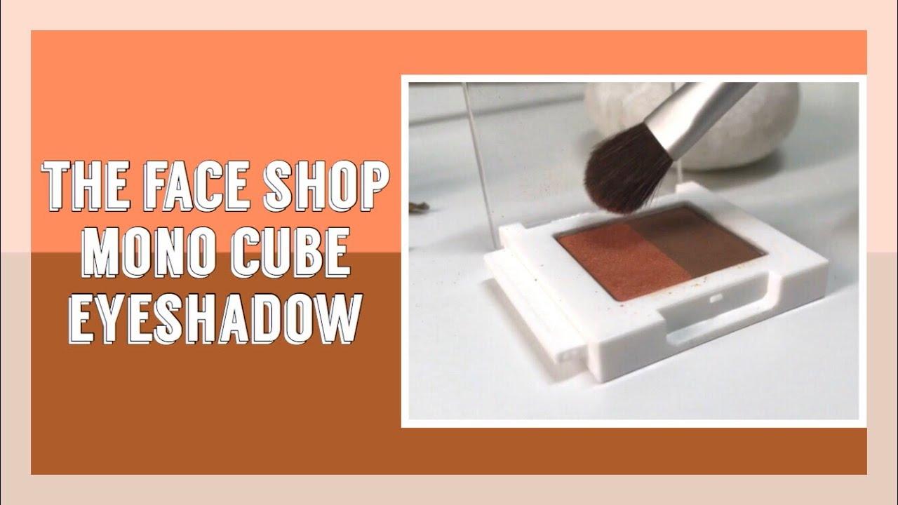 橘褐色眼妝搭配 x The Face Shop Mono Cube Eyeshadow Dual