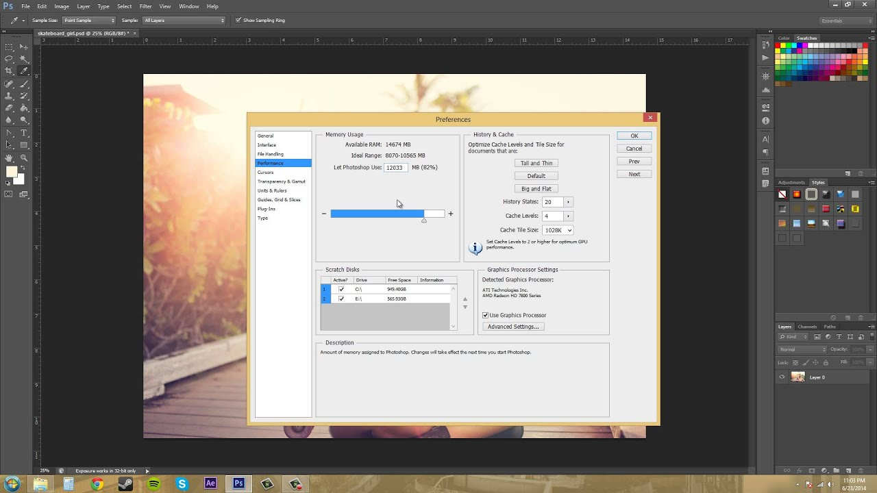 Photoshop cs6 tutorial 25 how to increase performance youtube photoshop cs6 tutorial 25 how to increase performance baditri Image collections
