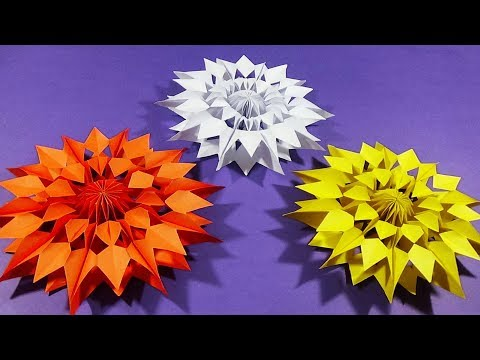Easy Paper Snowflakes for Christmas   How to make Paper Star  