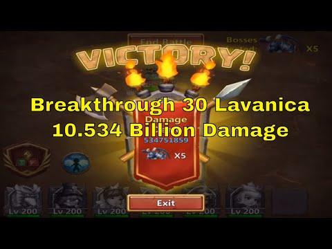 Castle Clash Archdemon Breakthrough 30 Lavanica Gameplay