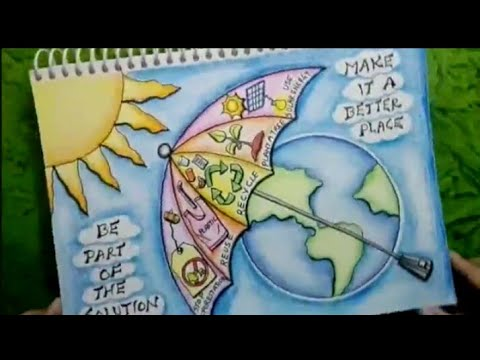 Global Warming Drawing/ Poster Tutorial || Global Warming/ Climate Change Poster