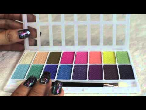 L.A. Colors 16 Pan Eye Shadow Palettes Cruelty Free - YouTube