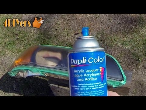 How to Restore Faded Plastic Headlights Using Clear Coat