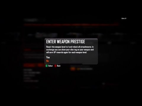 Black Ops 2: How To Get Your Clan Tag And Emblem On Your Gun, Prestige Weapon