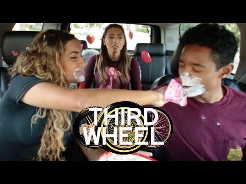 WHIPPED CREAM KISSING CHALLENGE | THIRD WHEEL W/ LAUREN ELIZABETH & HUNTER MARCH