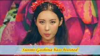 Sunmi-Gashina bass boosted