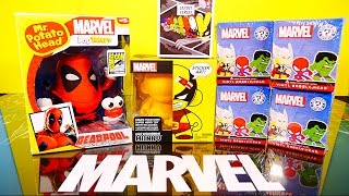 NEW Deadpool Mr Potato Head Toy Marvel Wolverine Kidrobot Munnyworld Mystery Minis Toys Unboxing