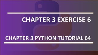 Exercise 6 / modify number guessing game : Python tutorial 64