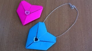 How to make Heart Necklace very easily ~ DIY Valentine Craft ~ Step by Step Instructions ~ DIY ...