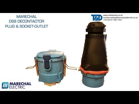 Marechal DS9 Industrial Plug (Straight Elastomer + Inlet) & Socket-Outlet - Decontactor GRP 150Amp