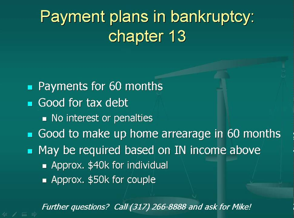 chapter 13 bankruptcy discharge processing
