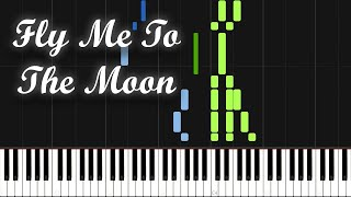 Fly Me To The Moon - Frank Sinatra (Piano Tutorial) [Synthesia]