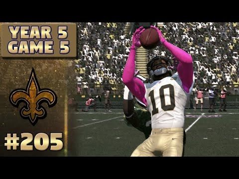 Emerging Star | @ Packers Highlights (S5,G5) | Madden NFL 17 New Orleans Saints Franchise Ep. 205