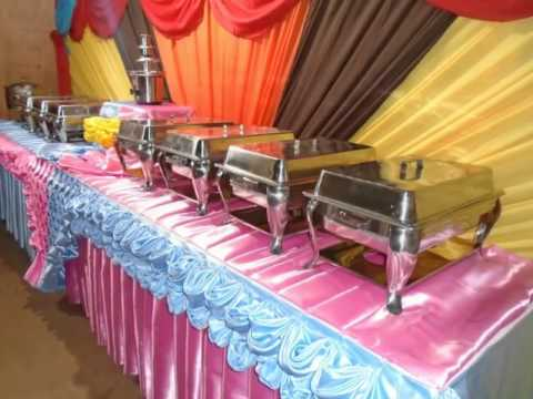 Backdrop Buffet Set Up By Bjorns Catering YouTube - Catering buffet table setup